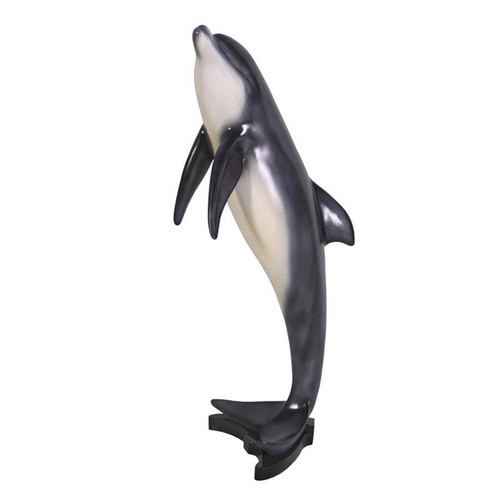 Large Leaping Sea Dolphin Garden Statue