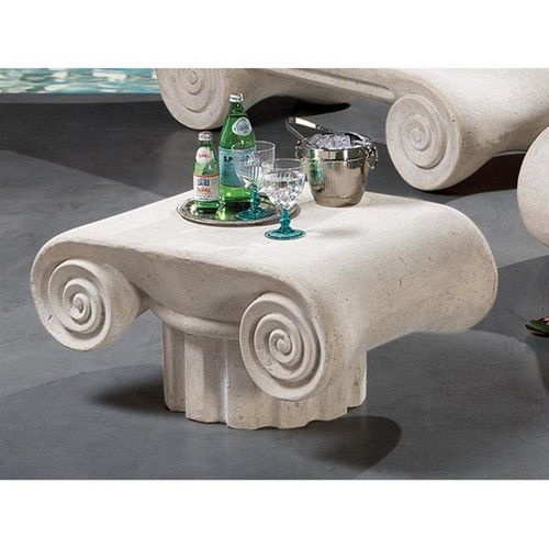 Hadrian Villa Roman Spa Plant Stand With Drinks on Top