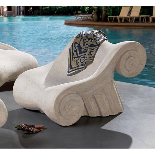 Hadrian Villa Roman Spa Masters Chair on the patio