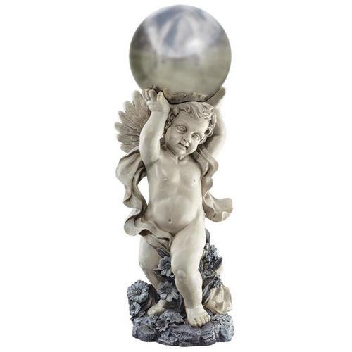 Cheltenham Garden Cherub Statue With Gazing Ball