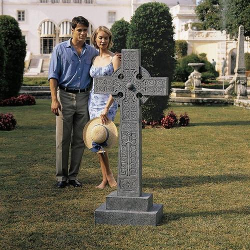 Chisholm Highland Celtic Cross Full-Size Memorial Statue