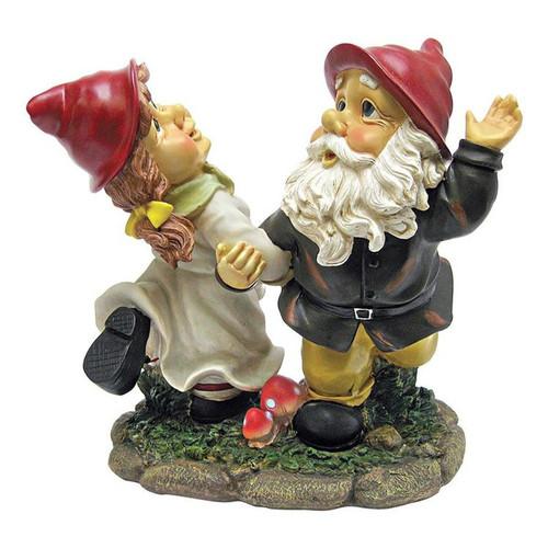Dancing Duo Garden Gnome Statue