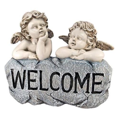 Raphael's Cherub Twins Welcome Statue