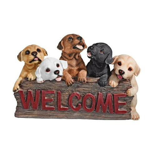 The Puppy Parade Welcome Garden Sign