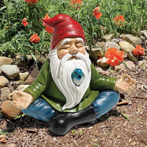 Zen Garden Gnome Statue in the Garden