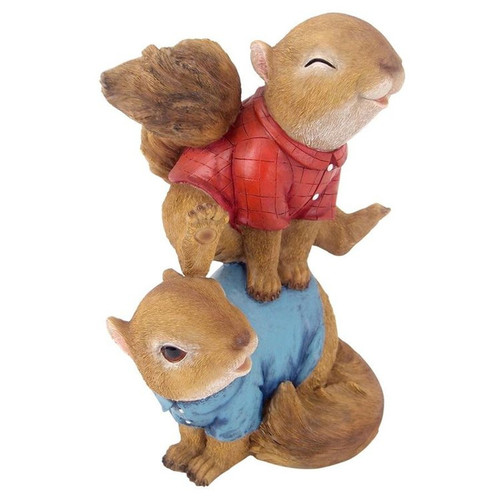 Leaping Squirrels Garden Statues