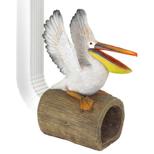 Splash the Pelican Gutter Guardian Decorative Downspout Statue