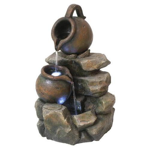 LaTaverna Cascading Urn Garden Fountain