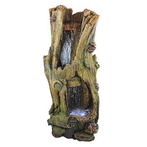 Hawksbill Gulch Cascading Illuminated Garden Fountain