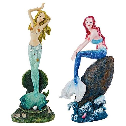 Melody Cove Mermaid Statue Set
