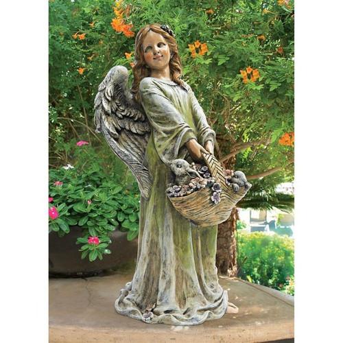 Joy Flower Angel Statue in the Garden