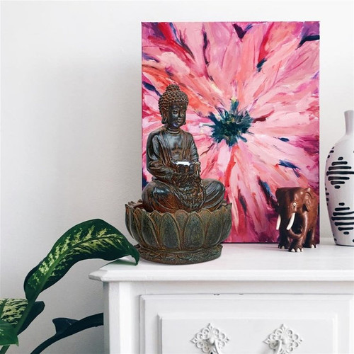 Endless Serenity Buddha Sculptural Water Fountain Indoors