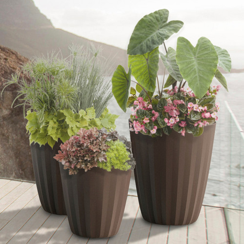 Pleat Planters By The Ocean