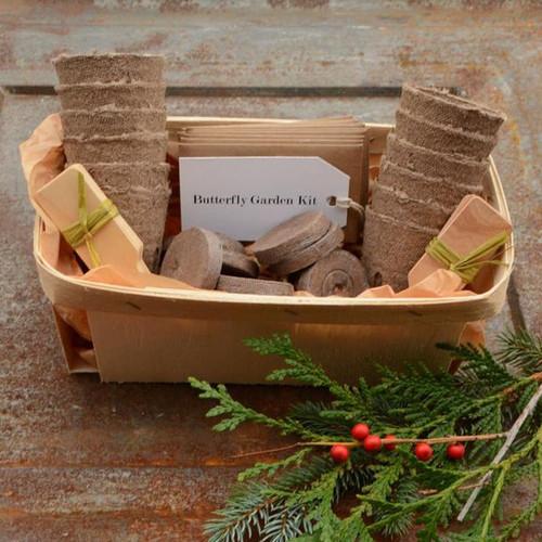 Deluxe Butterfly Garden Gift Basket Set