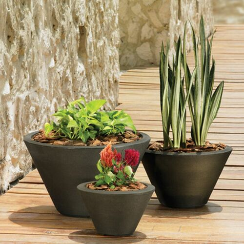 Gramercy Round Planter with Plants