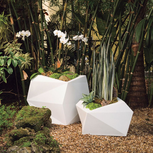 Origami Planters with plants