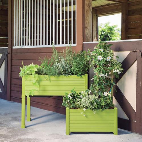 Newbury Planter with plants