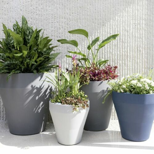 Rim Planters with plants