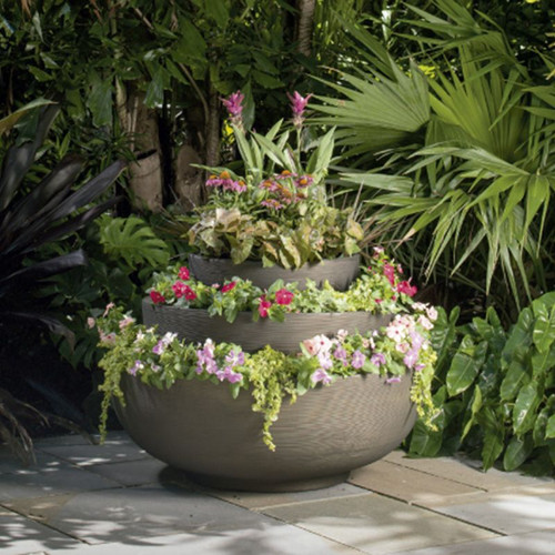 Orinoco Bowl Planters used together