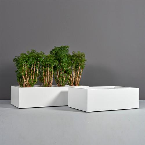 Antwerp Wide Rectangular Planters with plants