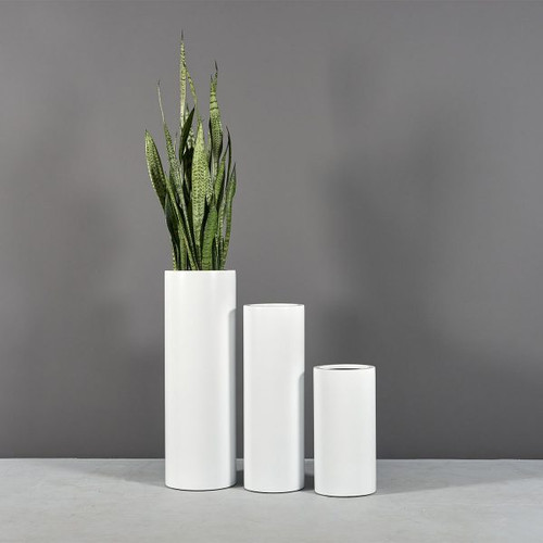 Corry Cylinder Planters with plants