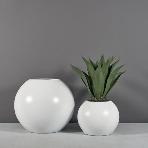 Globe Planters with plants