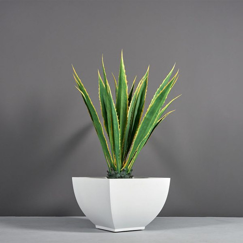 Lima Square Tapered Planter with plants