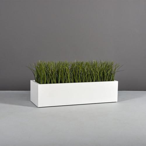 Lyon Rectangle Planter with plants