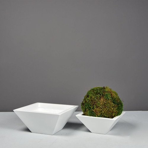 Malaga Square Tabletop Planters with plants