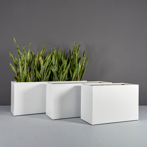 Tolga Rectangular Planters with plants