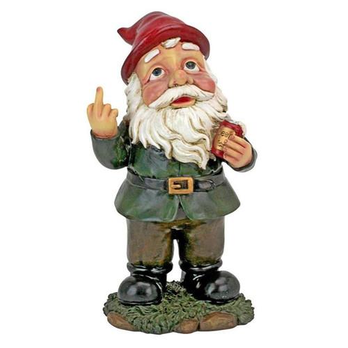 Foul Finger Tipsy Tim Beer Garden Gnome Statue