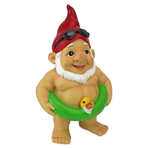 Pool Party Pete Naked Gnome Statue Front View