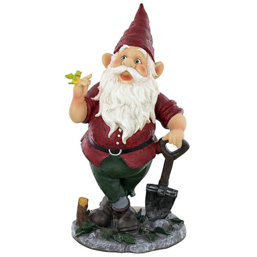 Birdy and Spader the Garden Gnome Statue