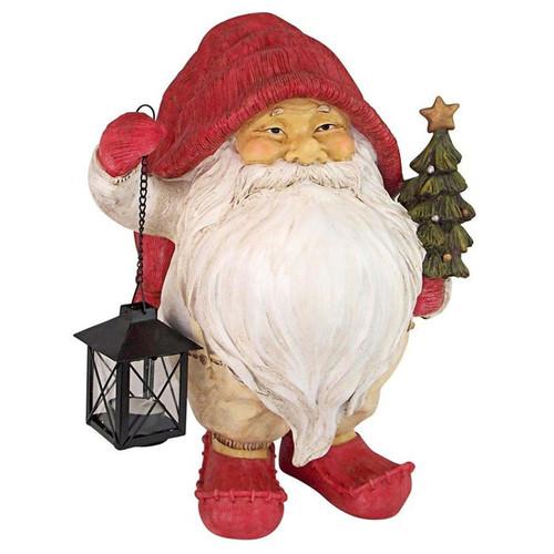 Lighting Santa's Path Whitey the Holiday Garden Gnome Statue