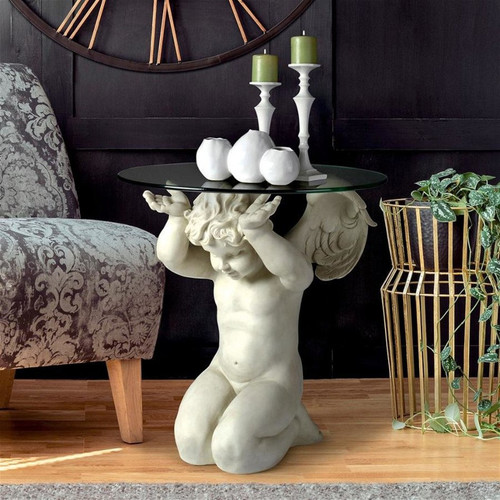 Cherubs Care Angelic Plant Stand Inside With Decor