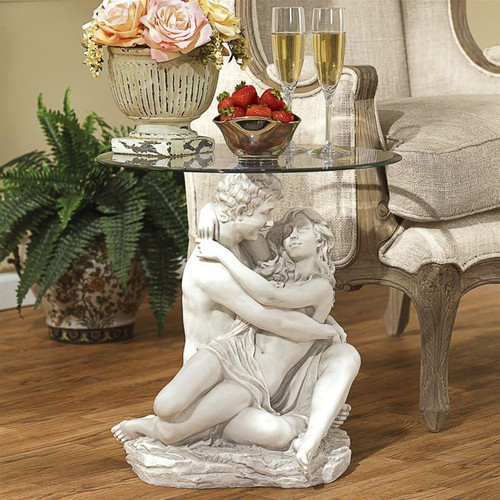 Arms Romance Glass Topped Plant Stand
