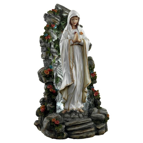 Blessed Virgin Mary Illuminated Garden Grotto Garden Sculpture