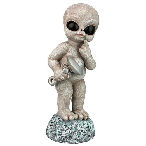 Zeta Gray Roswellian Baby Alien Garden Statue
