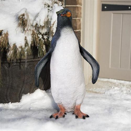 Rockhopper Penguin Statue in the Garden