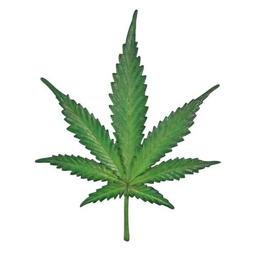 Marijuana Leaf Cannabis Wall Sculpture