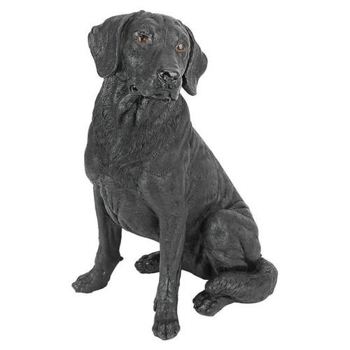Black Labrador Retriever Dog Garden Statue