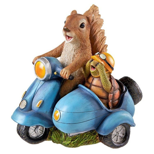Born to be Wild Squirrel on Motorcycle Garden Statue