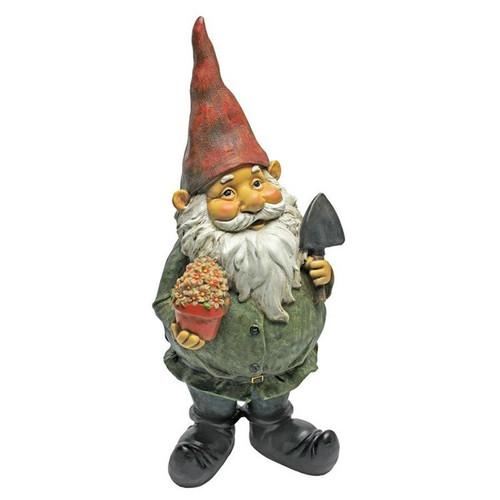 Dagobert with Gifts Garden Gnome Statue