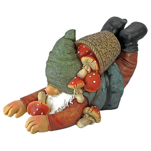 Clumsy Karl the Mushroom Hunter Gnome Statue