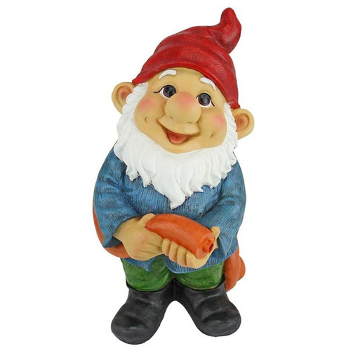 Hose It Off Harry Garden Gnome Spitter Piped Statue