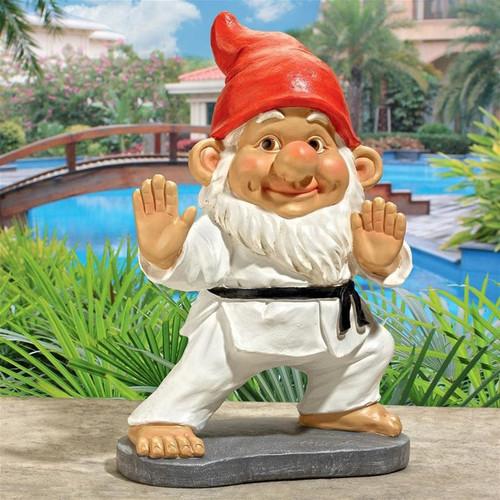 Karate Kobi Martial Arts Garden Gnome Statue in the Garden
