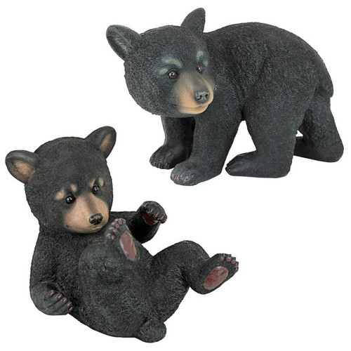 Roly-Poly Bear Cub Statue Set of 2