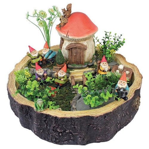 Tiny Forest Friends Gnome Garden Statue Collection Fairy Garden