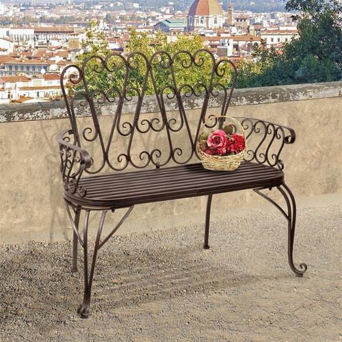 French Quarter Garden Bench on the Balcony