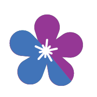 Purple and Blue Flower Icon